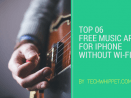 Free Music Apps for iPhone Without Wi-Fi