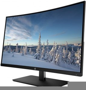 HP 27-inch FHD Curved Monitor