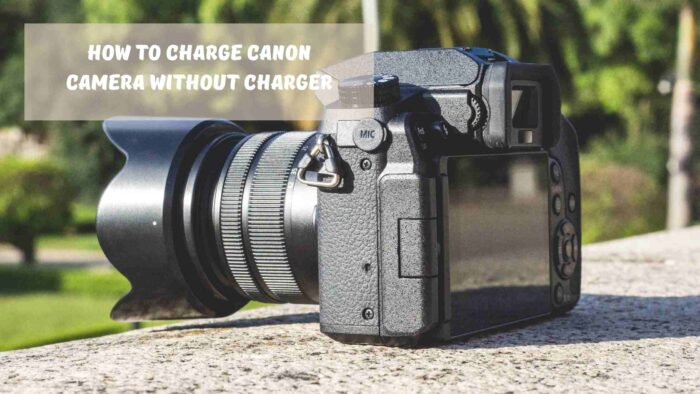 how to charge canon camera without charger
